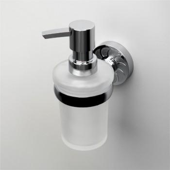 Дозатор для жидкого мыла стеклянный настенный WasserKRAFT Isen К-4099