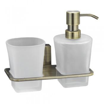 Стакан и дозатор для жидкого мыла WasserKRAFT Exter К-5289