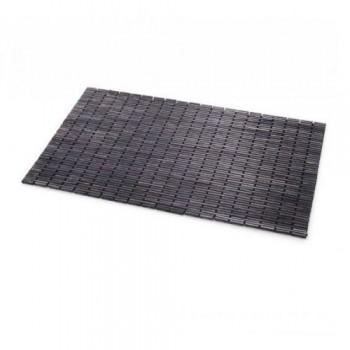 Коврик для ванной деревянный черный Lineabeta 7217.18