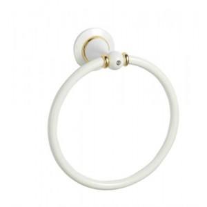Кольцо для полотенец белое Sanartec 831510