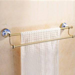 Держатель для полотенца двойной 45 см Sanartec 881002