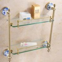 Полка стеклянная двойная 42,3 см Sanartec 881006