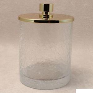 Баночка для ватных дисков и шариков большая золото Windisch Addition Craquele Gold 88126O