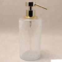 Дозатор для жидкого мыла настольный золото Windisch Addition Craquele Gold 90432O