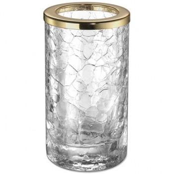 Стакан для зубной пасты и щеток золотой Windisch Addition Craquele Gold 91126O