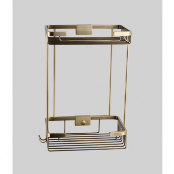 Полка-решетка прямая двойная бронза GUS 991080