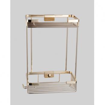 Полка-решетка прямая двойная золото GUS 991090
