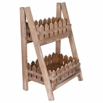 Этажерка деревянная с двумя ящиками AA-040-1 коричневая