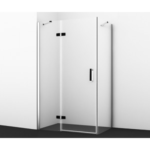 Душевой уголок прямоугольник с левой распашной дверью Aller 10H06LBLACK