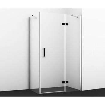 Душевой уголок прямоугольник с левой распашной дверью Aller 10H06RBLACK