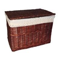 Корзина для белья низкая №1 B14-5108B S/9 коричневая