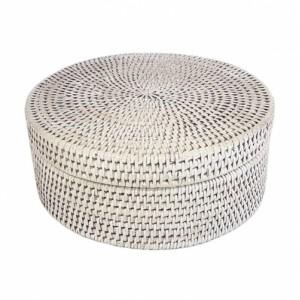 Круглая шкатулка с крышкой №1 BOX-10 W белая