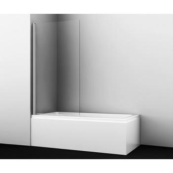 Стеклянная шторка для ванны распашная одностворчатая Wasserkraft Berkel 48P01-80 (800х1400)
