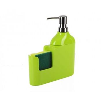 Дозатор для моющих жидкостей с губкой Veroni D-13162