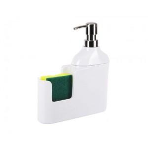 Дозатор для моющих жидкостей с губкой Veroni D-13164