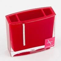 Стакан для зубных щёток Roma D-15232 красный