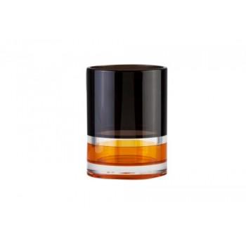 Стакан для зубной пасты Float orange D-15273