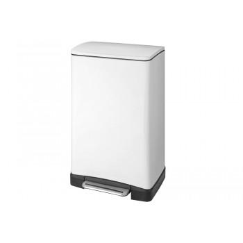 Ведро для мусора прямоугольное белое Primanova E- CUBE D-15315 (30 л)