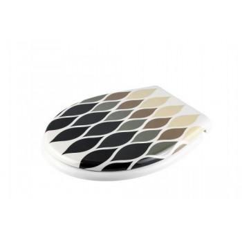 Сиденье для унитаза с микролифтом Henry Gri D-15717 серый