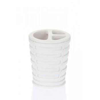 Стакан для зубных щёток Palm D-15912 белый