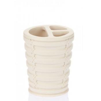 Стакан для зубных щёток Palm D-15922 бежевый