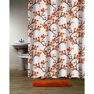 Шторка для ванной Bloom D-18595 оранжевая