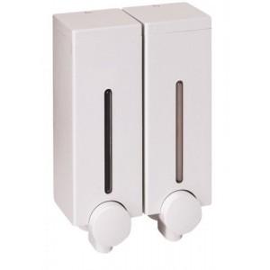 Диспенсер для жидкого мыла настенный Slim D-SD14 белый двойной (900 мл)