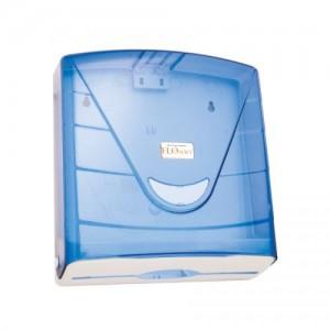 Диспенсер для бумажных полотенец D-SD31 (F088)-02-23 прозрачно-голубой