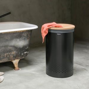 Корзина для белья металлическая Brabantia 120022 (60л) черная