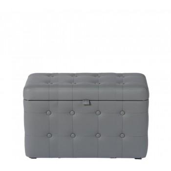 Банкетка с ящиком 03К-БН Eko 725 серая (60х40)