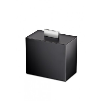 Баночка для ватных дисков Windisсh Black 88702NCR черная, хром