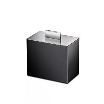 Баночка косметическая Windisсh Black 88704NCR черная с крышкой хром
