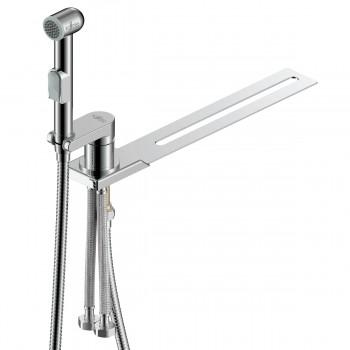 Биде-приставка на унитаз с гигиеническим душем и смесителем Rossinka X25-56