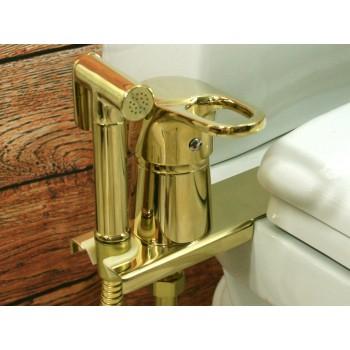 Биде-приставка с гигиенической лейкой, золото GD1