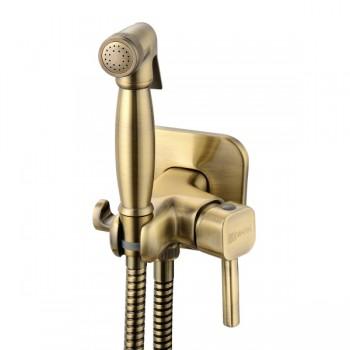 Гигиенический душ бронзовый со встроенным смесителем Lemark Solo LM7165B