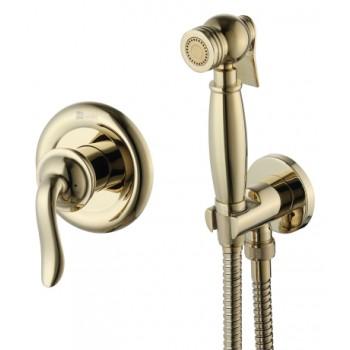 Гигиенический душ золотой встраиваемый Lemark BRAVA LM4719G