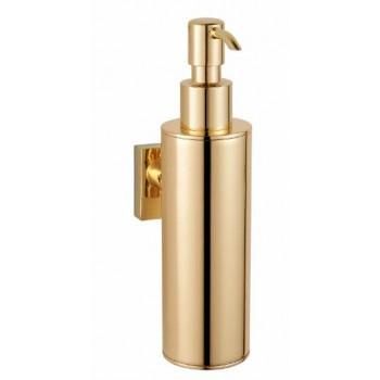 Дозатор для жидкого мыла настенный золотой GUS 751810