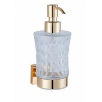 Дозатор для жидкого мыла подвесной стеклянный золото GUS 752310
