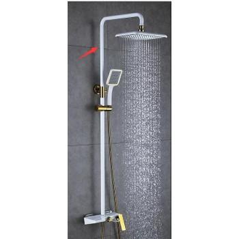 Душевая система с изливом Artik Quadro LT919 W белая