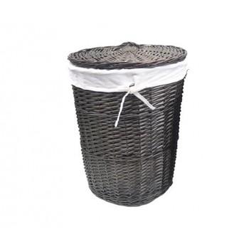 Плетеная корзина для белья с крышкой Еlbe WB-740-L