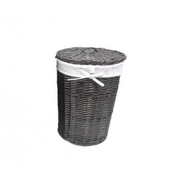 Плетеная корзина для белья с крышкой Еlbe WB-740-M