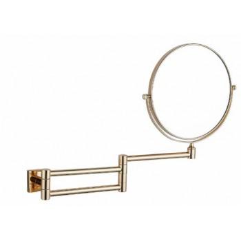 Зеркало настенное косметическое золотое GUS 751310