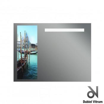 Зеркало с принтом и подсветкой Dubiel Vitrum ОБРАЗ ВЕНЕЦИИ (80х60) УТ000001296