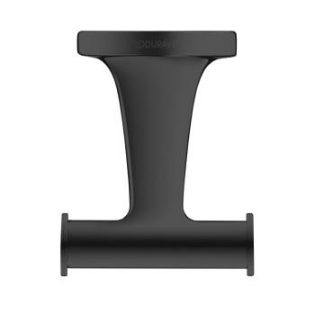 Крючок двойной Duravit Starck T 0099304600 черный матовый