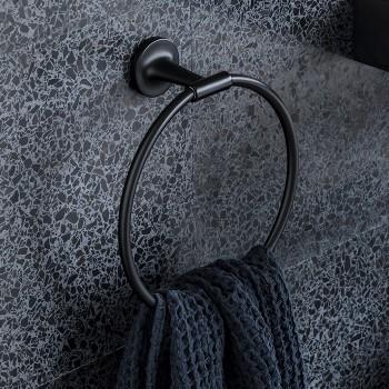 Полотенцедержатель - кольцо Duravit Starck T 0099474600 черный матовый