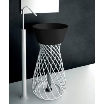 Раковина напольная черная со структурой Artceram WIRE WIL001 03 00nero*0