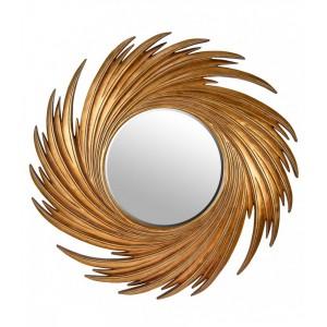 Зеркало в золотой раме LouvreHome Свирл LH159G