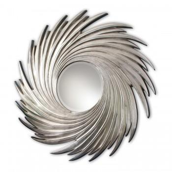 Зеркало в серебряной раме LouvreHome Свирл LH159S