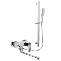 Смеситель для ванны с длинным изливом и лейкой для душа Artik GRANI RT980