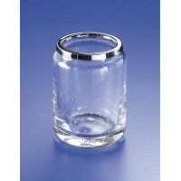 Стакан для зубной пасты и щеток стекло с пузырьками Windisch Acqua 91117CR